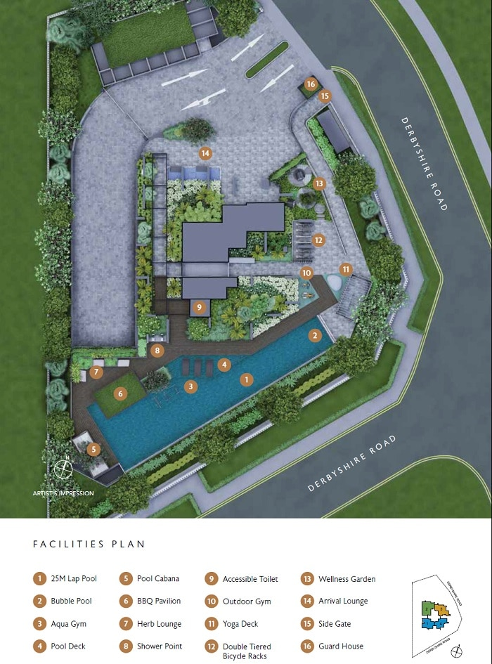 Fyve Derbyshire Site Plan