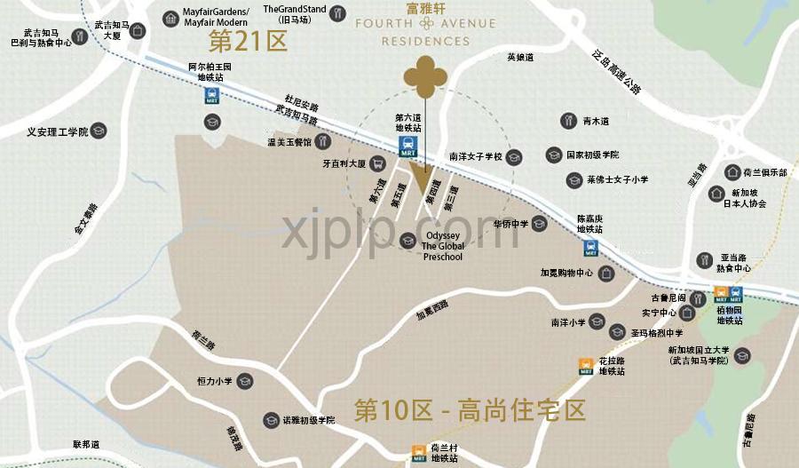 Fourth Avenue Residences CN Map
