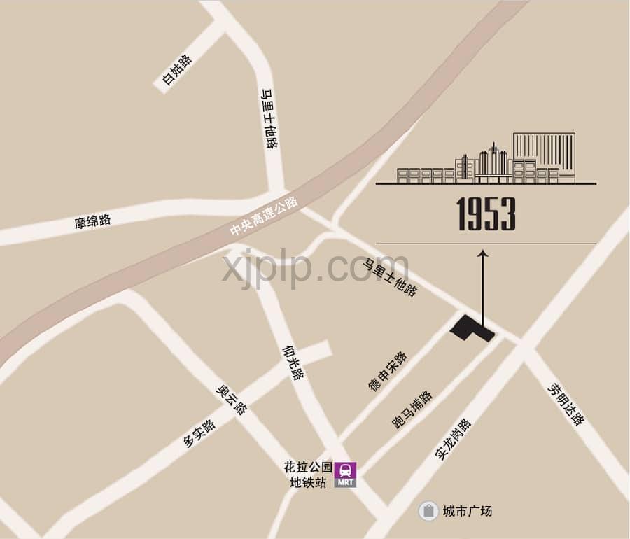 1953 CN Map