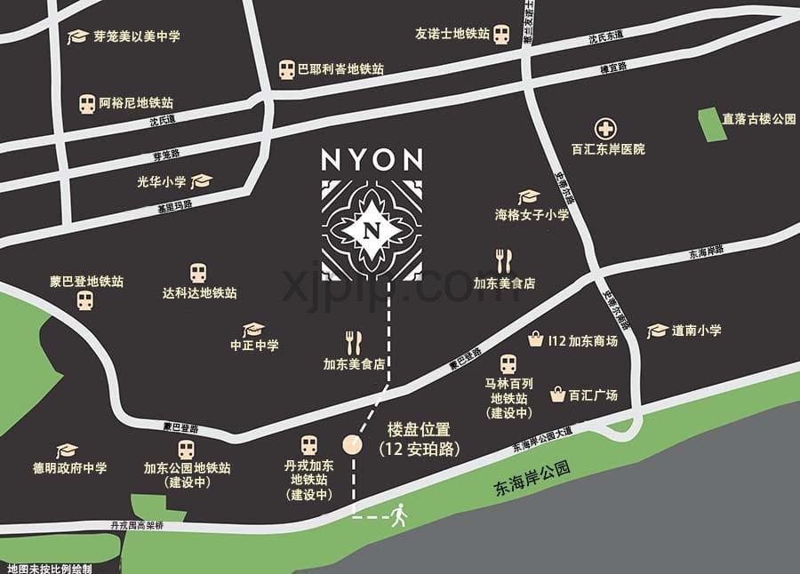 Nyon CN Map