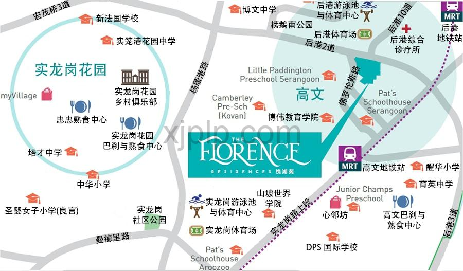 The Florence Residences CN Map