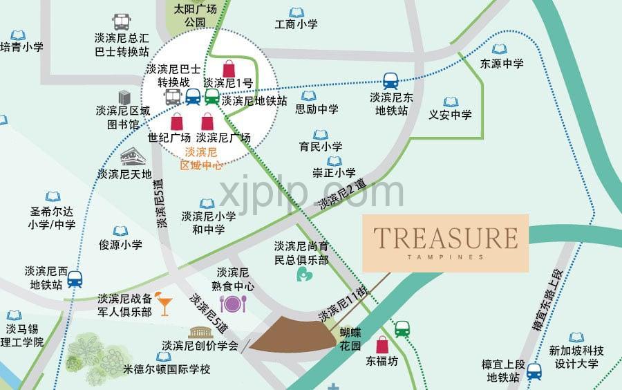Treasure at Tampines CN Map