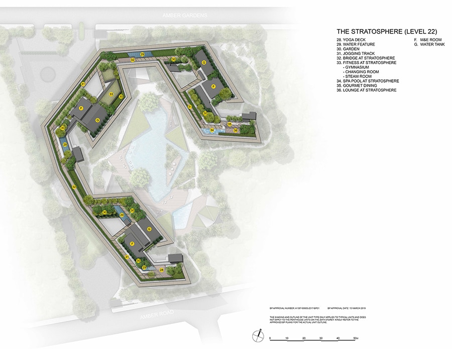 Amber Park - Site Plan (Level 22)