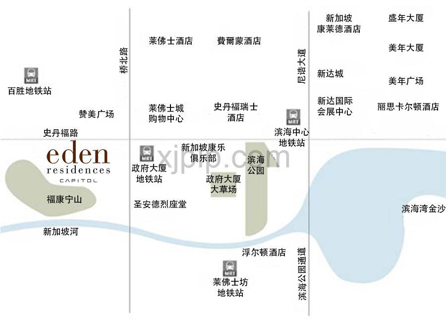 Eden Residences Capitol CN Map
