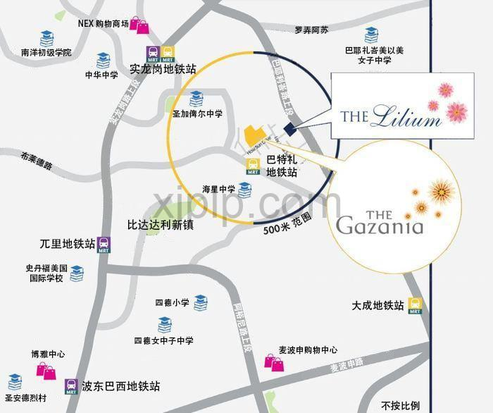 The Gazania CN Map