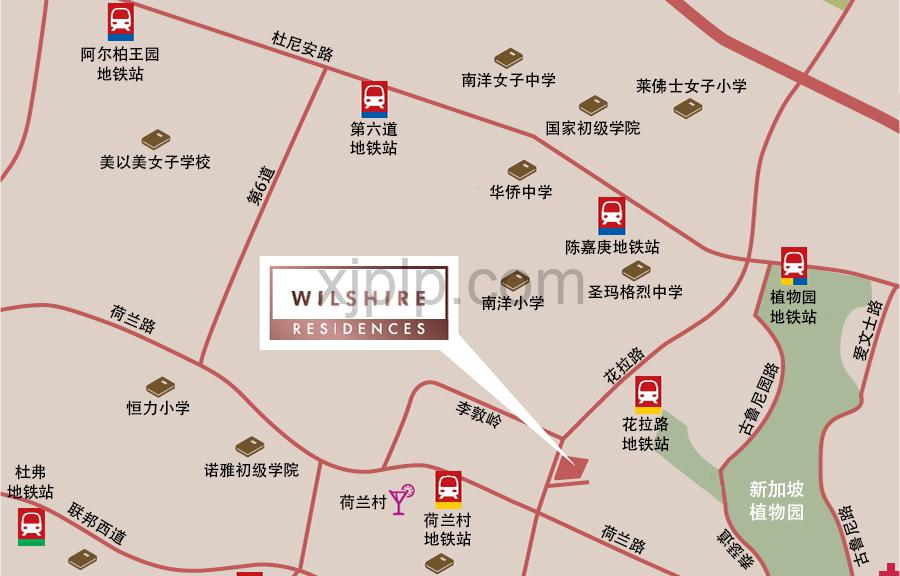 Wilshire Residences CN Map
