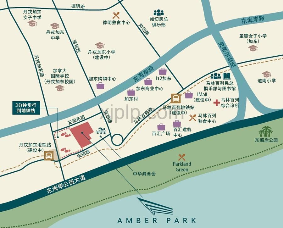 Amber Park CN Map