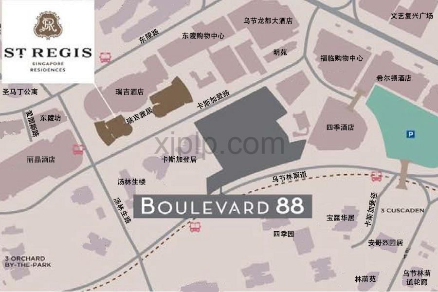 St Regis Residences CN Map