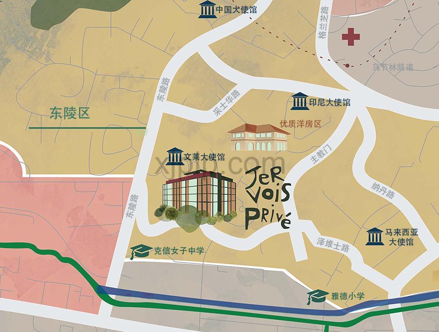 Jervois Prive CN Map
