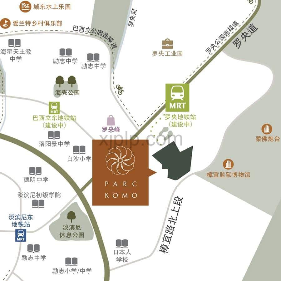 Parc Komo CN Map