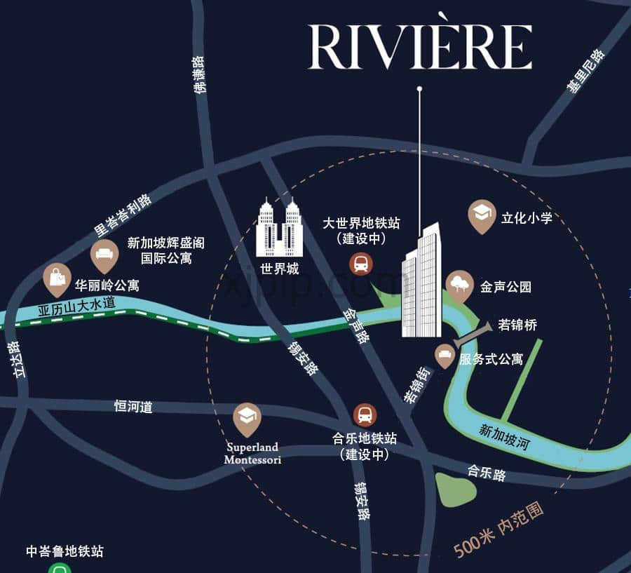 Riviere CN Map