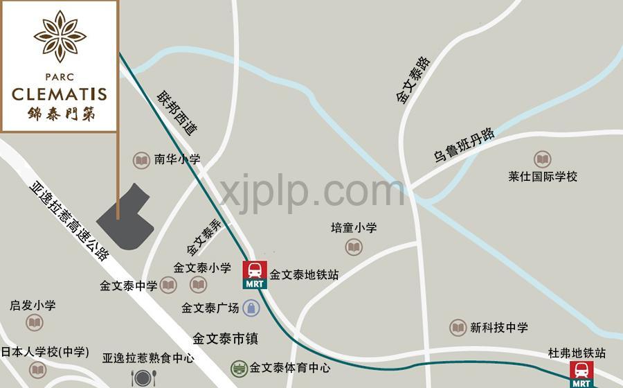 Parc Clematis Location Map CN