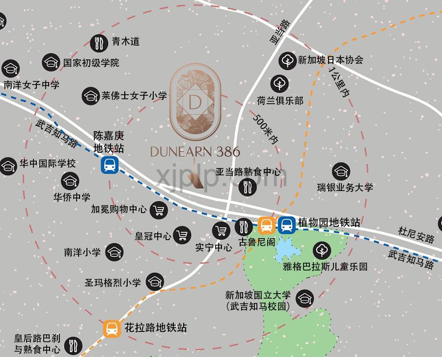 Dunearn 386 CN Map