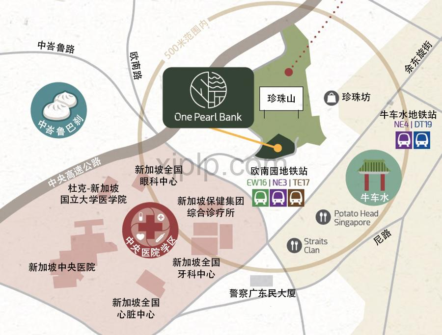 One Pearl Bank CN Map