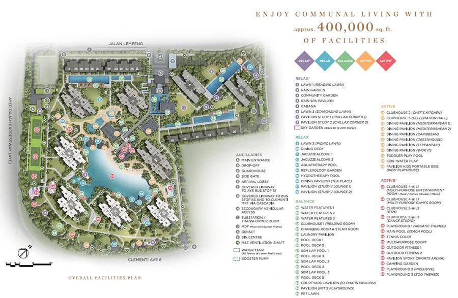 Parc Clematis Stie Plan