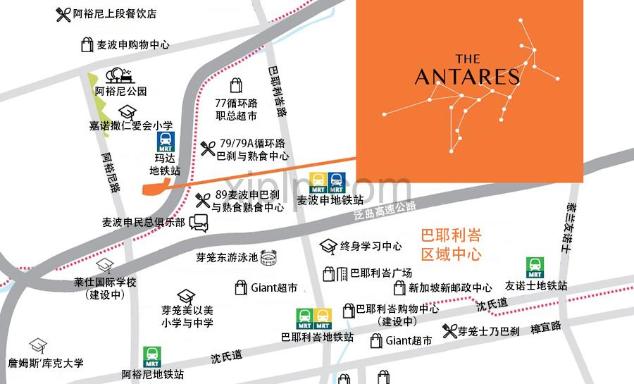 The Antares Map Chinese 2