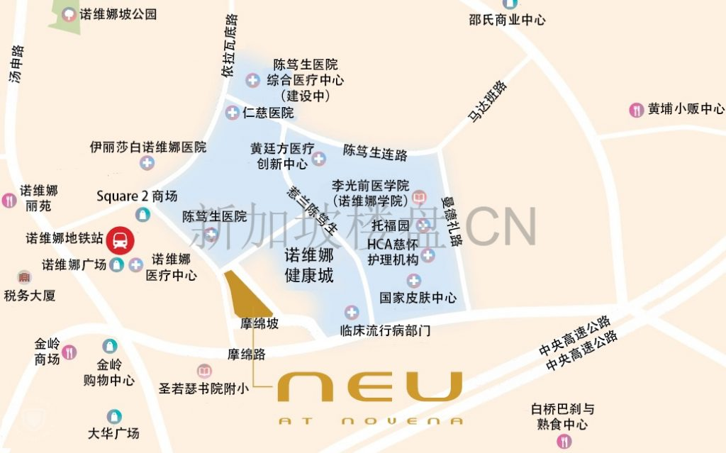 Neu at Novena Location Map CN 1