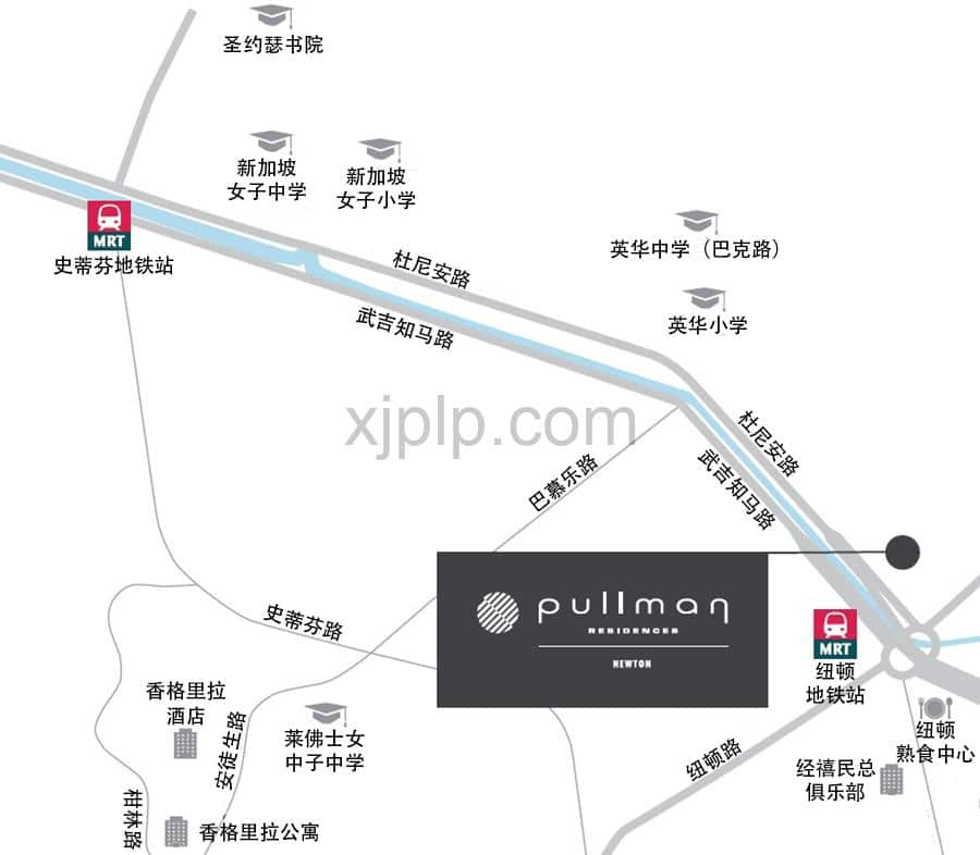 Pullman Residences Newton CN Map