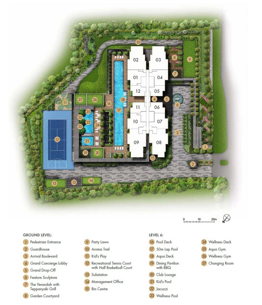 Pullman Residences Newton Site Plan