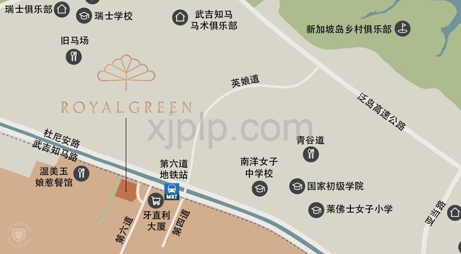 RoyalGreen Location Map CN1