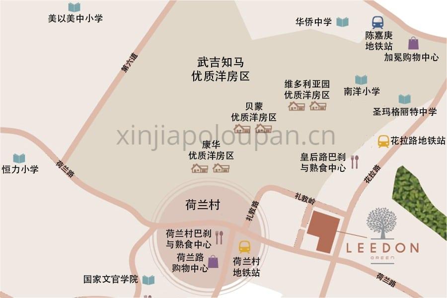 Leedon Green Location Map CN 1