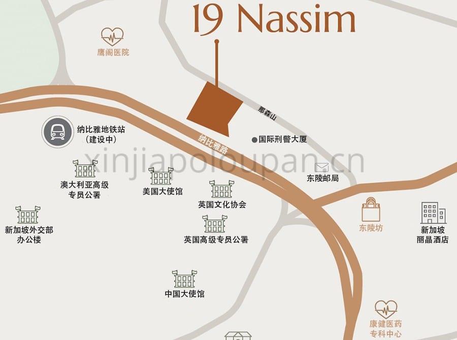 19 Nassim Condo Location Map CN1