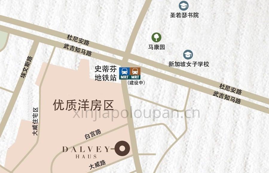 Dalvey Haus Location Map CN 1