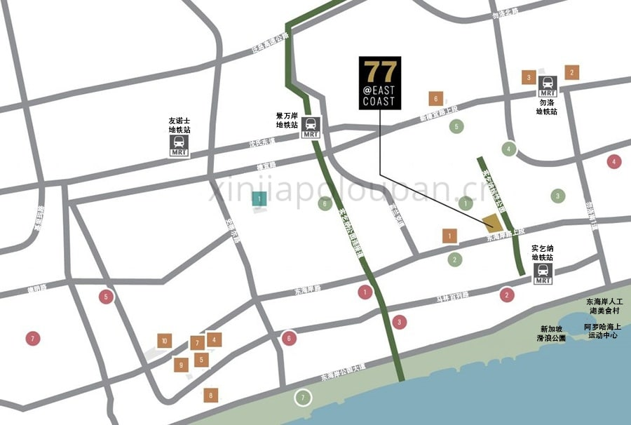77 @ East Coast Map CN1