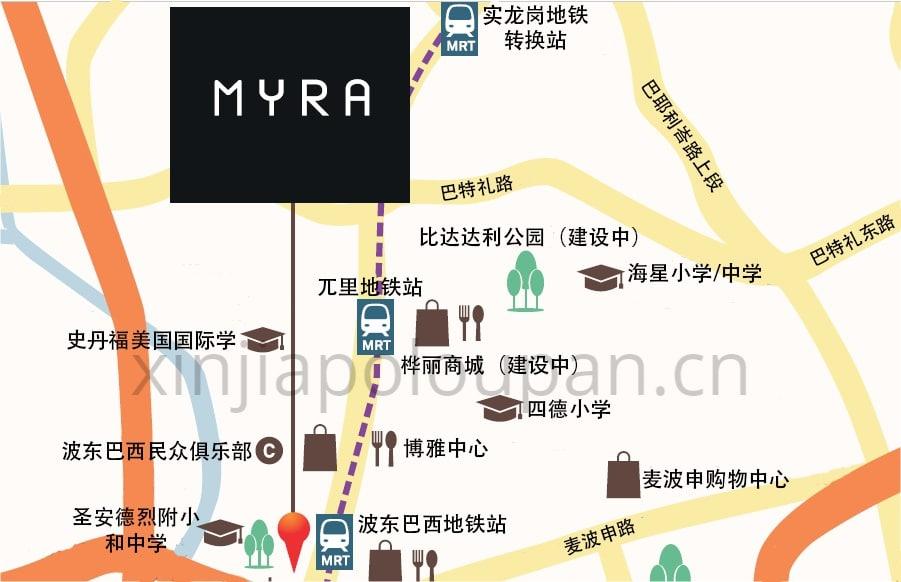 MYRA Condo Location Map CN1