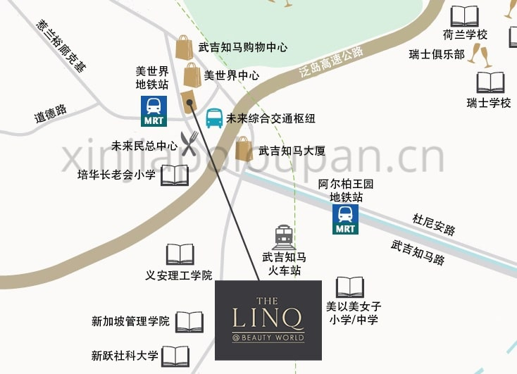 Linq at Beauty World Location Map CN1
