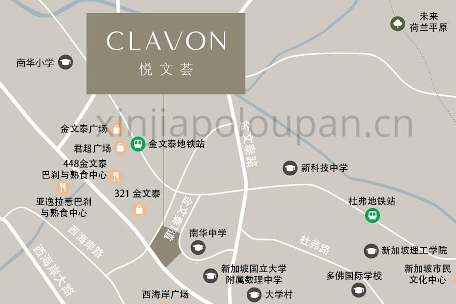 Clavon Condo Location Map CN2