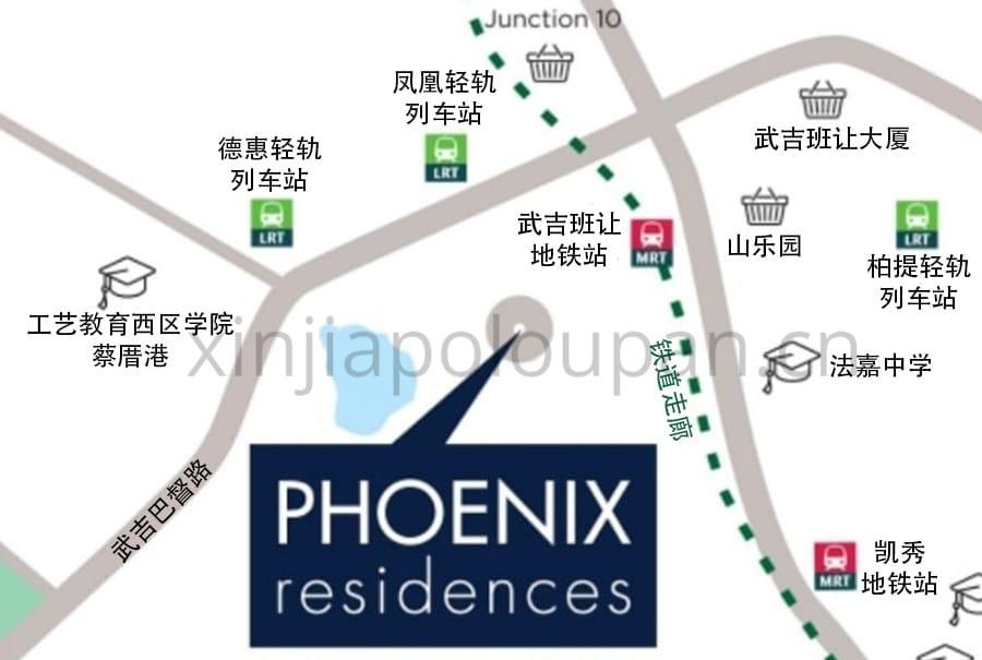 Phoenix Residences Location Map CN1