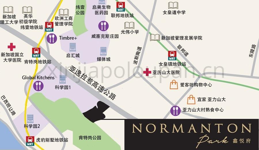 Normanton Park Location Map CN1