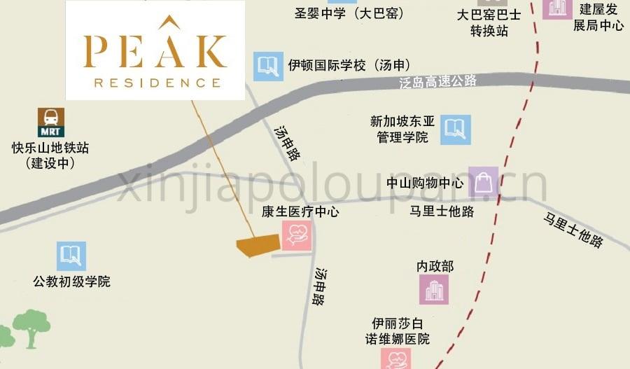 Peak Residences Location Map CN1