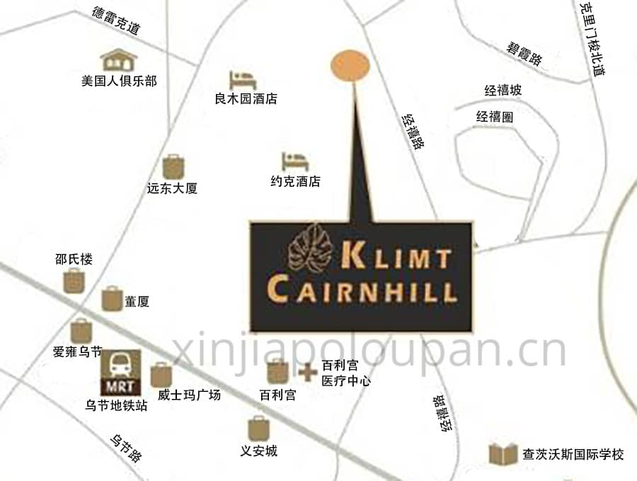 Klimt Cairnhill Location Map CN1